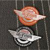Etiqueta de alumínio personalizada venda por atacado do carro da boa qualidade
