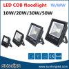 Luz de inundação preta 10W da ESPIGA do diodo emissor de luz do projector do projector da paisagem do alumínio 3000k 5000k 6000k do escudo 20W 30W 50W