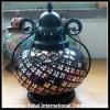 Vela de cristal Tormenta linterna con mango de metal