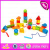 2015 bello Kids String Beads Toy, Wooden Educational Toys String Blocks Toys per Children, Wooden String Beads Toy W11e043