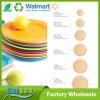 Placa verde antimicrobiana de la fibra de Amboo del plato bajo que va