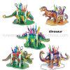 Rompecabezas Jigsaw del papel del dinosaurio de Wholesle para los juguetes educativos de los cabritos