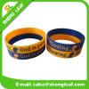 Bracelet gravé mince fait sur commande bon marché de Wristband en caoutchouc de silicone du moule LED
