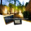 Im Freien angeschaltene LED-Scheinwerfer-Garten-Rasen-Solarleuchte