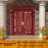 Puerta de entrada doble de madera sólida de la hoja (GSP1-007)