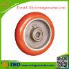 ヨーロッパのタイプ円形の踏面ポリウレタン鋳鉄の足車の車輪