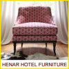 Cadeira clássica luxuosa do acento da tela da sala de estar