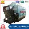 Chaudière à vapeur allumée par charbon manuel à chaînes horizontal de tube d'incendie de grille