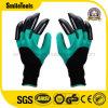 Перчатка сада перчаток левых & правых пластичных когтей садовничая выкапывая