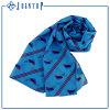 Soem-übergrosses Bildschirm-Drucken-Polyester-multi blauer Chiffon- Schal