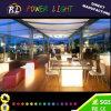 LEDの家具の多彩な庭によって照らされる立方体の椅子