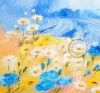Peinture à l'huile fabriquée à la main d'art décoratif moderne de mur