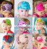 다채로운 Babay Headband, Flower를 가진 Feather Headband