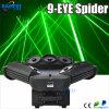Feixe principal movente de venda quente da aranha do verde do laser 9PCS