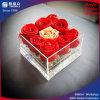 Caja de presentación de acrílico impermeable de la flor