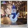 Luz al aire libre 2017 de la guirnalda de la cuerda del adorno del muñeco de nieve del uso de la decoración de la Navidad