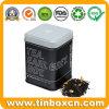 Metallverpacken- der Lebensmittelquadratischer Graf-grauer Tee-Zinn-Kasten