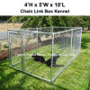 Kleine im Freien 6 x 4 Füße Stahlkettenlink-bewegliche Yard-Hundehütte-Hundehaus-Rahmen-