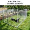 Petits 6 x 4 pieds extérieurs de chaîne de maillon de yard de chenil de crabot de cage portative en acier de Chambre