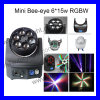 LED 6*15W RGBW Bee Eye Moving Head Light