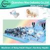 고속 반 자동 귀환 제어 장치 아기 기저귀 패드 기계 (YNK400-HSV)