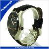OEM van het Embleem van de Douane van de fabrikant het Horloge van het Leer van de Mensen van de Sport van het Merk met Uitstekende kwaliteit