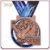 Medalhão 2015 de cobre antigo personalizado do metal de Quebeque judo aberto