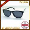 Demi de lunettes de soleil en bois de l'armature Fx15124