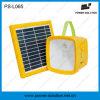 6V Lithium-Batterie-bewegliche kampierende Solarlampe des Sonnenkollektor-4.4ah mit FM Radiotelefon-Aufladeeinheit
