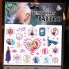 Etiqueta engomada congelada venta caliente del tatuaje de la historieta para los cabritos