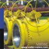Vávula de bola del muñón del acero de molde del reborde del engranaje 3PC RF (Q347X)