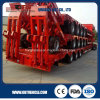 Machine Transport를 위한 3 차축 50ton Payload Low Bed Semi Trailer