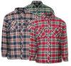 Camisa do trabalho do lenhador do revestimento do estofamento da flanela dos homens