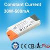 bloc d'alimentation de 500mA 30W DEL avec des CB SAA de la CE de TUV