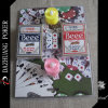 Poker Chip Set pour 2 bougies Six Dice 2 Deck No. 98 Club Special Beee Playing Cards dans Blister Packaging