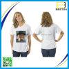 カスタム印刷の刺繍のロゴの女性Tシャツ