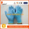Перчатки безопасности перчатки PU Nylon сини покрытые (DPU166)