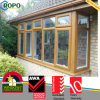 PVC europeo Profile Casement Window di Design con Golden Oak Color