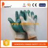 Связанная зеленая перчатка латекса (DKL314)