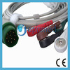 Drager Siemens ECG Cable mit 5 Leadwires, Round 10pins