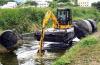 Compartimiento anfibio de Excavato 33ton 0.5m3 del río con Isuzuaa-6bg1trp