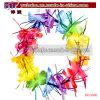 Items promocionales de Luau de los leus de la flor de la chispa multicolora hawaiana del oropel (BO-3006)