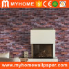 Papel pintado del ladrillo rojo del material de construcción 3D para la sala de estar