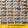Wave Shape Glass Mosaic Mix Stone ou Metal (S10)