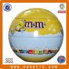 Nahrungsmittelgrad-Zinn-Oberseite-Kugel-runder Seifen-Zinn-Kasten/Zinn-Behälter