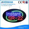 Muestra brillante oval del instante Sr-22 LED de Hidly alta