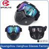Os óculos de proteção da motocicleta Anti-Fog & Anti-Riscam a prova de ciclagem Eyewear Bendable da poeira de Googles com espuma macia acolchoada