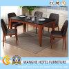 Restaurante de lujo de madera negro del diseño que cena el conjunto de la silla