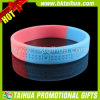 Debossed Logo Silicon Bracelets avec Segmented Color (TH-band033)