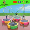 Colorido Mini Kids Fly Trampolín con 4 Estaciones
